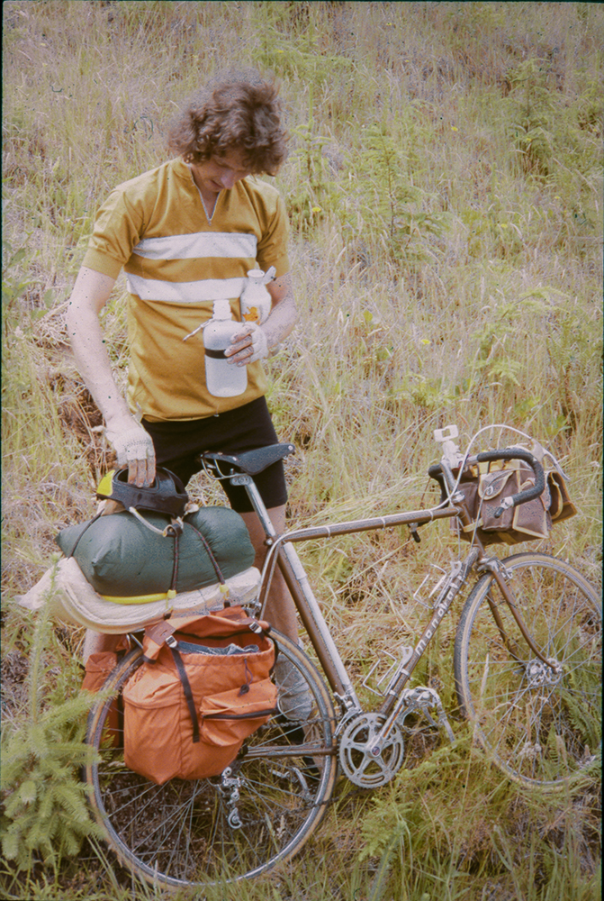 Photo of Dale on a bike trip in 1978