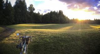 Photo: bike and sunset