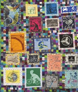 Detail of handmade BCC quilt
