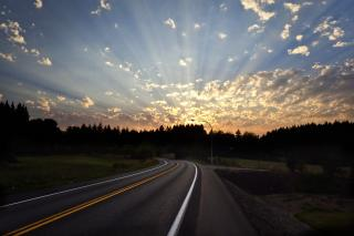 Photo of sunset over South Bay Rd.