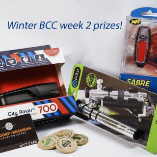 Photo of Winter BCC Week two prizes