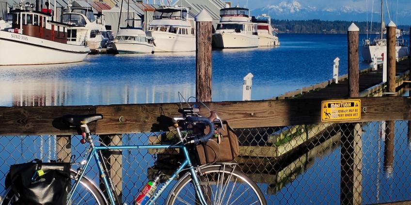 Bike at Percival Landing
