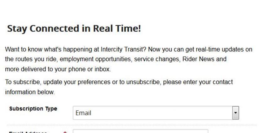 Illustration of email Signup form
