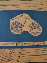 Mixed Media Bike Art by Laura Jean