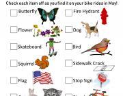Bike Scavenger Hunt Card