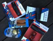 Photo of prizes for first week of 2020 Bicycle Commuter Challenge
