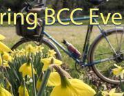 Spring bicycle illustration